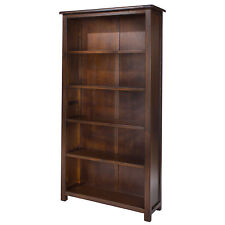 Boston Tall Bookcase in Pine with Dark Tinted Lacquer