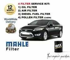 FOR FORD MONDEO 1.8TDCi 6/2007-> SERVICE KIT OIL AIR FUEL POLLEN FILTER (4 ) KIT