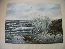Hand painted Seascape on Canvas - Ref 1399
