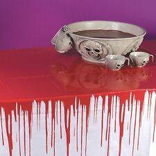 GOCCE DI SANGUE tablecloh BLOODY Bianco Tovaglia Copri Festa di Halloween colorato
