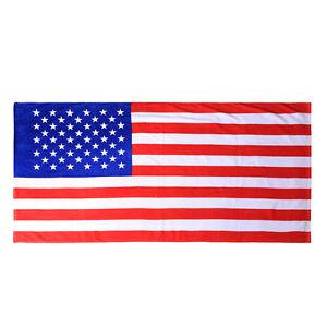 Hawaii Beach Towel 100% Cotton Large 60x30 American Flag Stars and Stripes