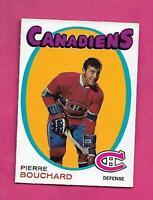 1971-72 OPC # 2 CANADIENS PIERRE BOUCHARD ROOKIE NRMT CARD (INV# D7256)