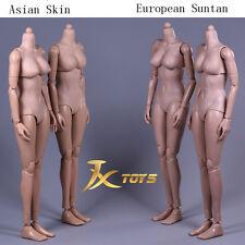 JXTOYS 1/6 Flexible Female Body Figure Mid Bust European Model Suntan JX02-B