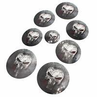 Skull #2 Logo Emblem Folien Set f. BMW F32 F33 F36 F25 E84 E70 E71 M Paket Ecken