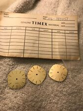 (3)Vintage Timex 1980 men's watch dials england Brand New Old Stock