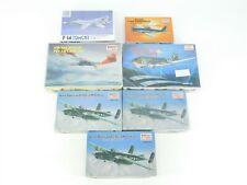 Lot Of 7 1/144 Scale Minicraft Model Kits Tomcat, Thunderbolt & Other Jet/Plane