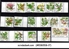 PALAU - 1987 INDIDENOUS FLOWERS - 17V OVERPRINTED - MNH