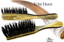 PETZ AUSTRIA Hornbürste 5-reihig gerade Horndeckel Wildschweinborsten Haarbürste