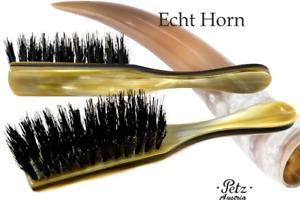 Petz Austria Hornbürste 5-reihig Straight Horndeckel Wild Boar Bristles