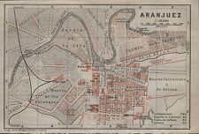 1912 BAEDEKER ANTIQUE MAP- SPAIN- TOWN PLAN-ARANJUEZ