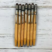 Antique Eberhard Faber 1560 Pony Clip Metal Pencils Writing Lot of 7 Collectible
