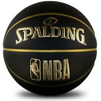 NBA Logoman Basketball In Black & Gold Size 7 Indoor/Outdoor Ball From Spalding