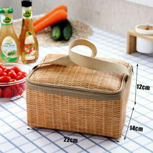 Portable Insulated Box for Picnic Camping Food Container Thermal Pouch Hand F1