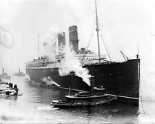New 8x10 World War I Photo: Ill-Fated Liner RMS LUSITANIA, Torpedoed by Germans