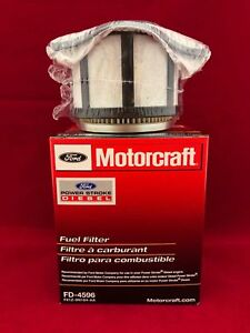 New Genuine Ford Motorcraft FD4596 Diesel Fuel Filter With Gaskets F81Z-9N184-AA