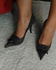Scarpe décolleté tortora  37 nuove tacco 8 cm punta similpelle