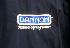 DANNON NATURAL SPRING WATER nylon jacket XL vtg retro Groupe Danone embroidery