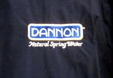 DANNON NATURAL SPRING WATER nylon jacket XL vtg retro Groupe Danone embroidery