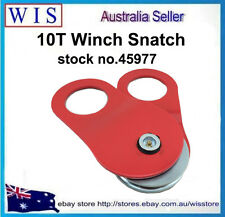 10Ton Recovery Snatch Block Winch Rope Pulley Hoist Rated 4WD Off Road,RED-45977