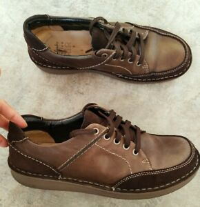 Clarks active air Men's Brown Leather shoes size 9G