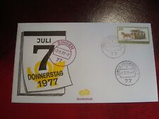 GERMANY/BERLIN - 1977 HORSE-DRAWN COACH - FIRST DAY COVER - EXCELLENT CONDITION