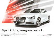 Prospekt / Brochure Audi A5 S line selection und Infotainmentpaket 08/2015