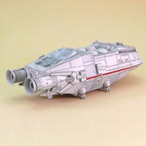 1:120 Scale Battlestar Galactica Colonial Shuttle DIY Handcraft Paper Model &Z2