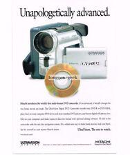 2002 Hitachi Dvd Ultravision Digital Camcorder Vtg Print Ad