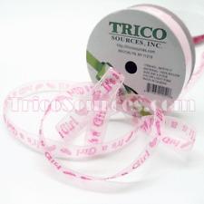 "Trico Baby Shower Ribbon Organza Ribbon It's a boy/Girl 3/8""(9mm)x 50YDS-B4043"