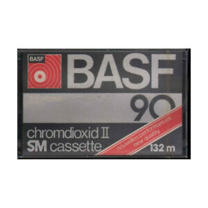 BASF Chromdioxid II SM Cassette 90 - 132 m / Cromo Diossido Cassette Sigillata