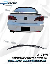 Carbon Fiber Rear Trunk Spoiler Lip For 2008-2016 VW Volkswagen Passat CC Type A