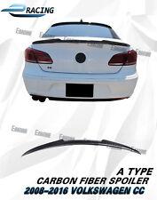 Carbon Fiber Rear Trunk Spoiler Lip For 2008-2016 VW Volkswagen Passat CC Type A
