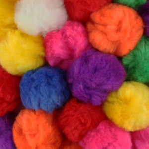 2.5 Inch Multi Color Large Craft Pom Poms 15 Pieces