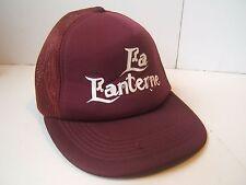 La Lanterne Snapback Trucker Hat Vintage Burgundy Cap
