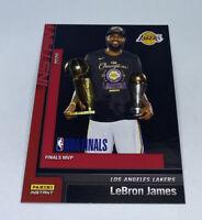 2019 20 LOS ANGELES LAKERS PANINI INSTANT NBA CHAMPIONS #29 LEBRON JAMES MVP