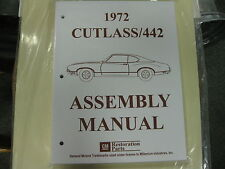 1972 CUTLASS, 442 (ALL MODELS) ASSEMBLY MANUAL