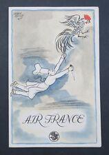 Menu AIR FRANCE Paris New York 30 août 1949 Hervé Baille Cinzano Dubonnet