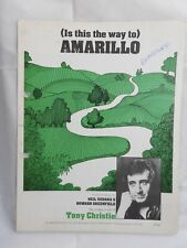 Tony Christie (is This The Way to) Amarillo single sheet music piano vocal