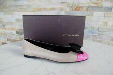 BOTTEGA VENETA Ballerinas Gr 38,5 Halbschuhe Schuhe pink beige neu UVP 490 €