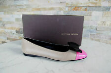 Bottega Veneta bailarinas GR 38,5 zapato bajo zapatos Pink beige nuevo PVP 490 €
