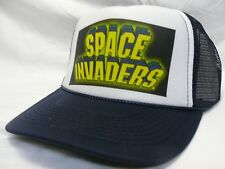 Space Invaders Video game Trucker Hat mesh hat snapback hat black