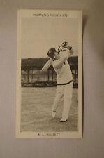 1953 - Vintage - Morning Foods Ltd. - Cricket Card - A.L Hassett - Victoria.