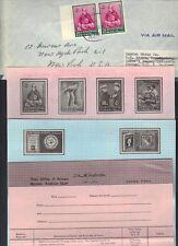 UAE AJMAN 1964 JOHN KENNEDY STAMP TIED AJMAN 24.DEC.1964 W/PROMOTIONAL PAMPHLETS