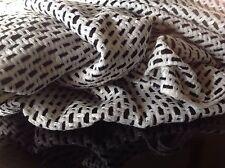 """Diseñador de lana tejido con bucles Negro/blanco como se ve en Diseñador Catwalk 153cm 62"""""""