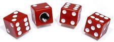 Bouchons de valve set cube rouge red DICES Bike trike voiture Moto Chopper Hot roue