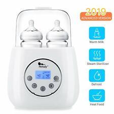Baby Bottle Warmer, Bottle Steam Sterilizer 6 in 1 Bottle Warmer for Warm Milk