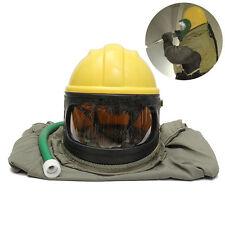 Safe Sandblast Helmet Sand Blast Hood Protector + Cloak Sand Len fo Sandblasting