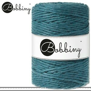 Bobbiny 100 m Makramee-Kordel 5 mm | Peacock Blue | Hobby Basteln PREMIUM