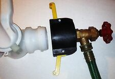 "275 330 GN IBC TOTE TANK ADAPTER  2"" Cam Lock x Garden Hose FAUCET VALVE PLAS"