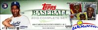 2013 Topps Baseball 666 Card Factory Set-2 Mike Trout+Jackie Robinson REFRACTOR!